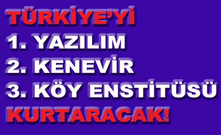 TÜRKİYE'Yİ KURTARACAK A-Z'YE ÜÇ KONU