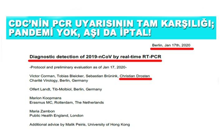 UYARI ABD'DEN GELDİ, PCR İPTAL!