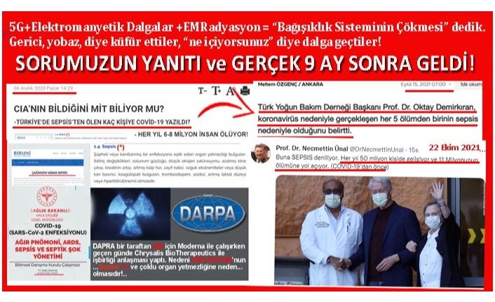 SEPSİS DEDİLER AMA RADYASYON (5G) DİYEMEDİLER!