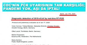 UYARI ABDDEN GELDİ, PCR İPTAL!